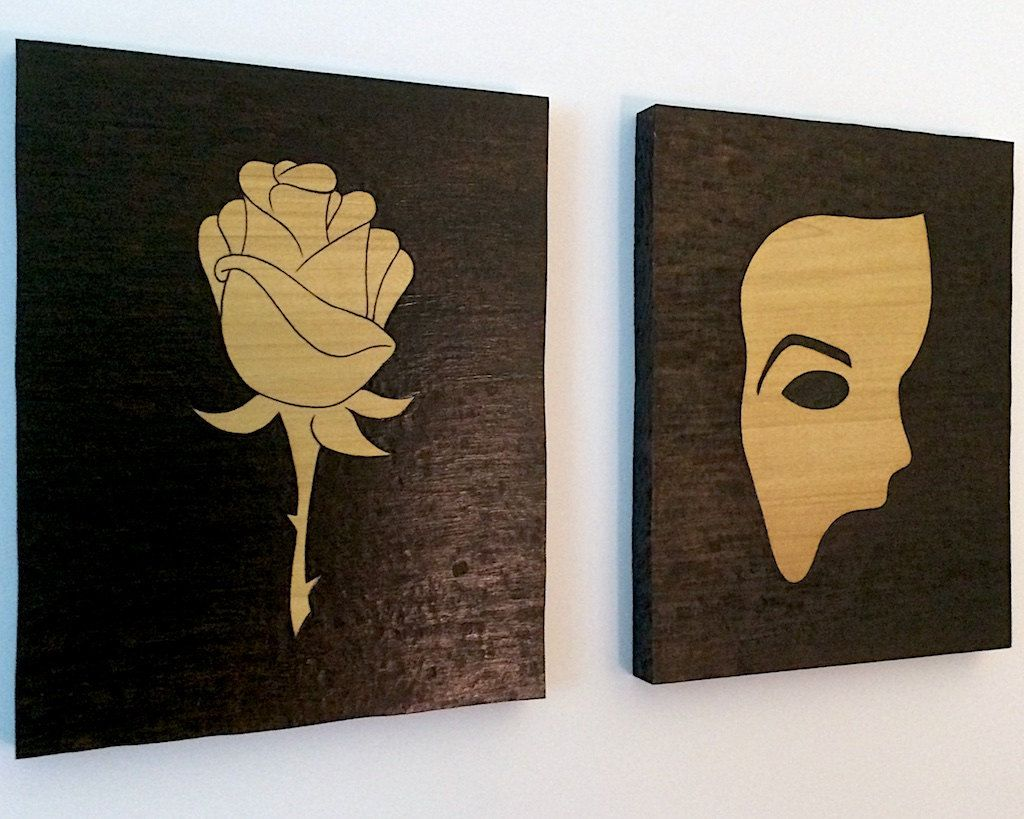 Phantom Of The Opera Phantom Mask And Christine S Rose Etsy Phantom Mask Phantom Of The Opera Custom Art