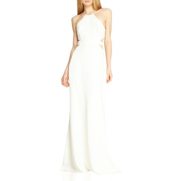 Crepe Gown W Cutouts ($495) ❤ liked on Polyvore featuring dresses ...