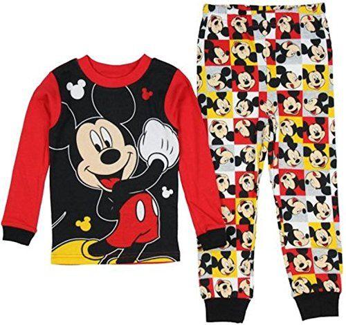 a51c5dfd0 Disney Mickey Mouse Long Sleeve Pajama Sleepwear Baby Boys 24 Months ...