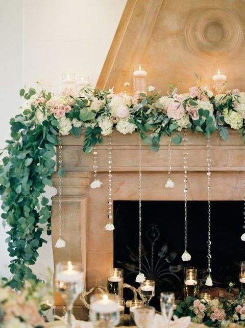 Photo of 50 Wedding Fireplace Decor Ideas