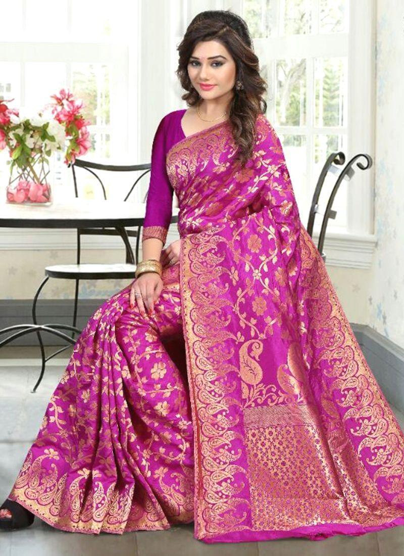 Piquant Banglori Silk Weaving Work Traditional Designer Saree