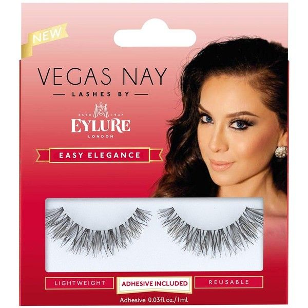 Eylure Vegas Nay Lashes By Eylure, Easy Elegance (13 CAD) ❤ liked on Polyvore featuring beauty products, makeup, eye makeup, false eyelashes, eylure false ...