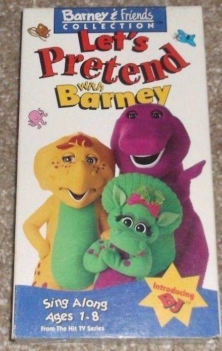 Barney And Friends Let S Pretend Sing Along 1 8 An Adventure In Make Believe Vhs Ebay Barney Friends Barney Barney The Dinosaurs