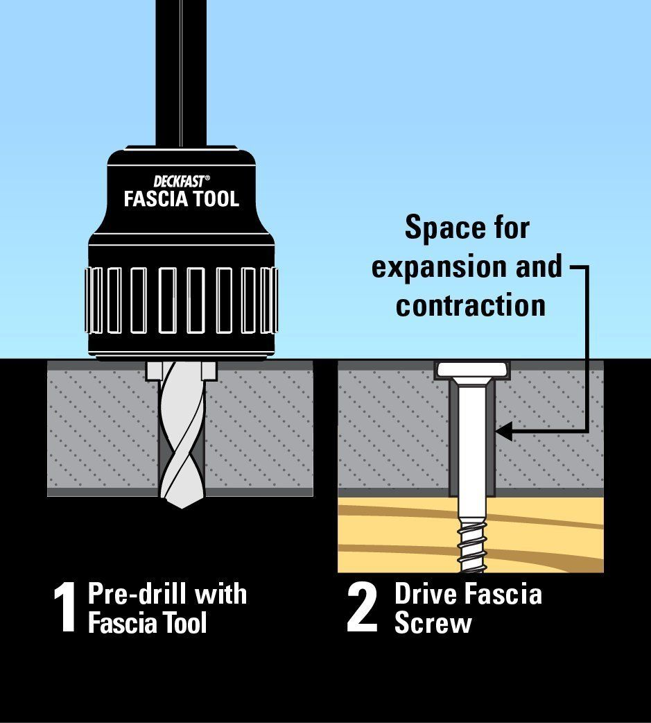 Headcote Stainless Steel Fascia Screws 9 X 1 7 8 T 20 Star Drive Chocolate 100 Pieces Amazon Com Fascia System Composite Decking