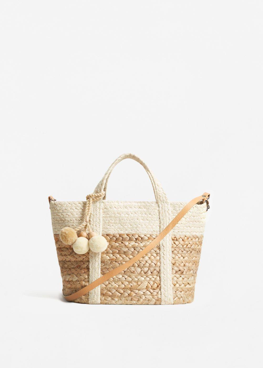 Jute basket bag | MANGO