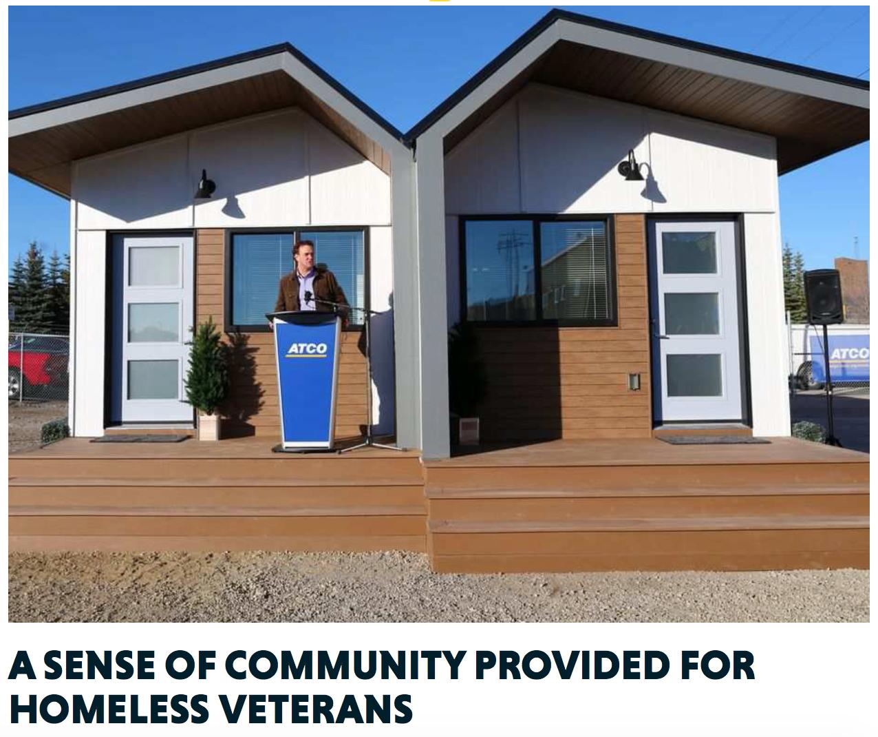 Sense Of Community For Vets Tiny House House Blueprints Tiny House Trailer