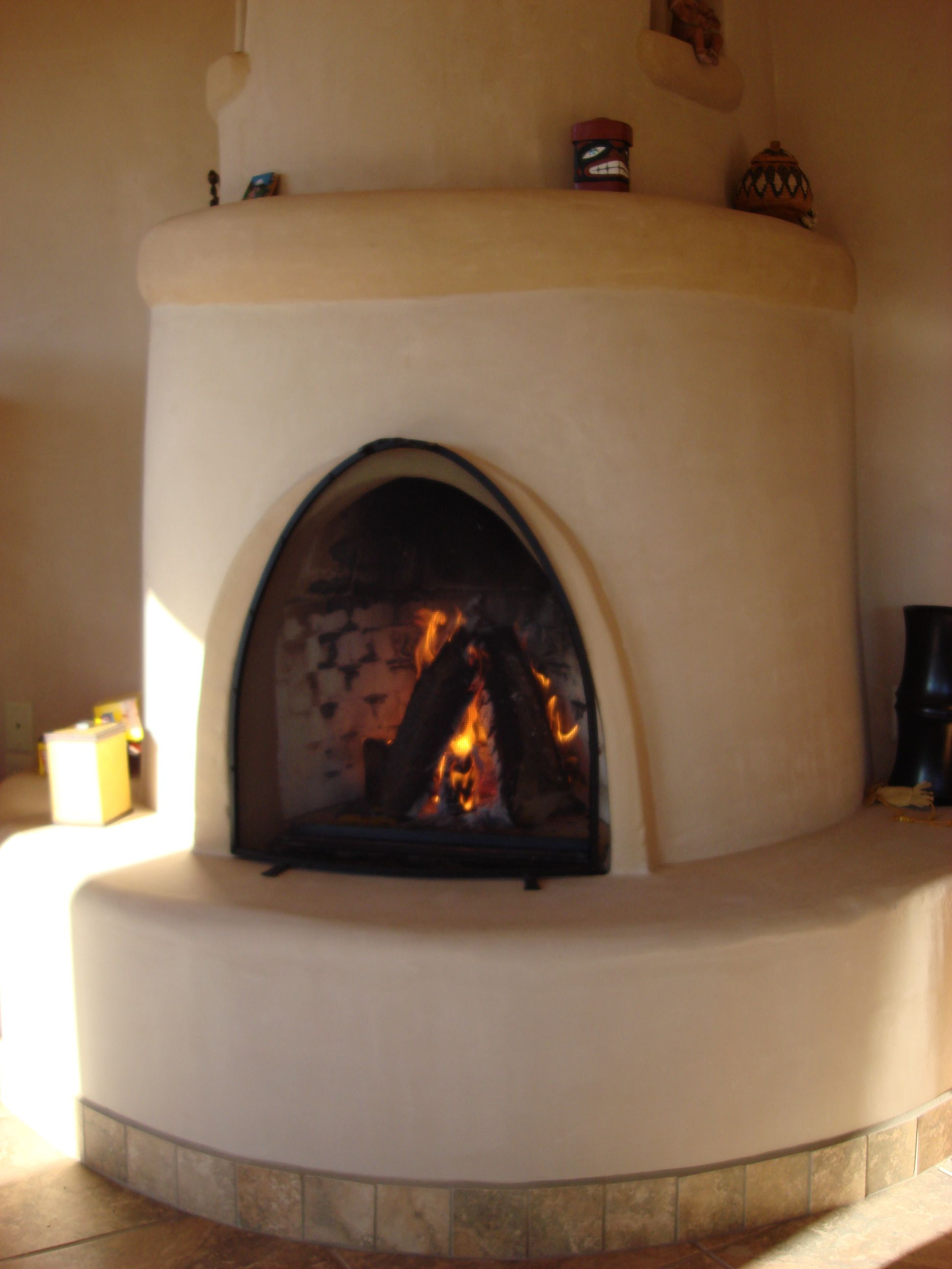 Kiva Fireplace Taos Style Pinterest Straw Bales