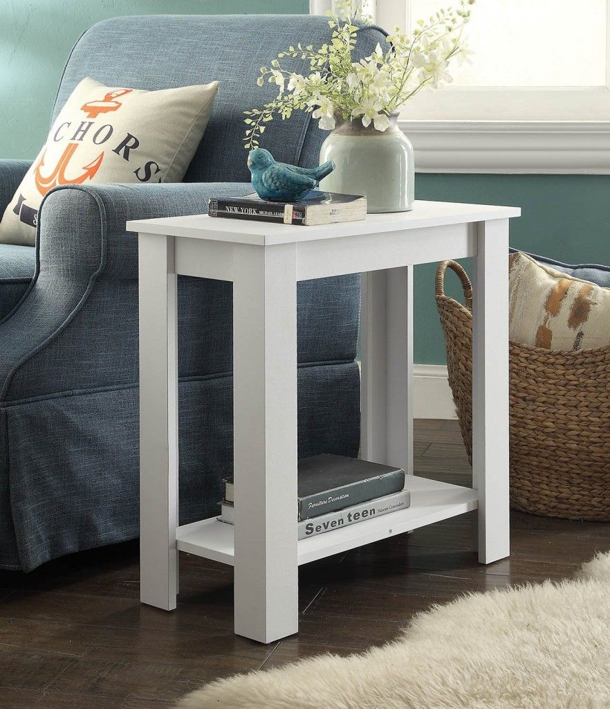 Beautiful White End Table