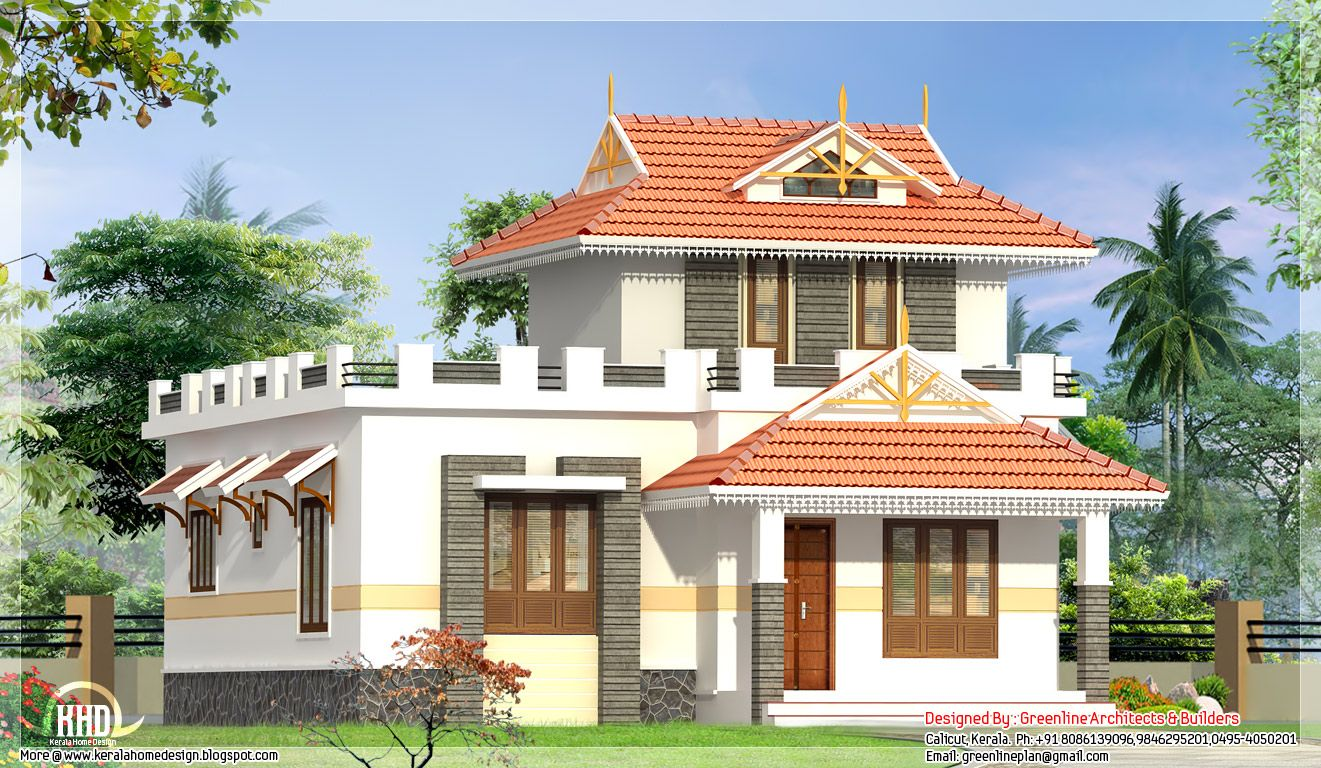 Single floor house elevation kerala home design floor for Kerala building plans elevations