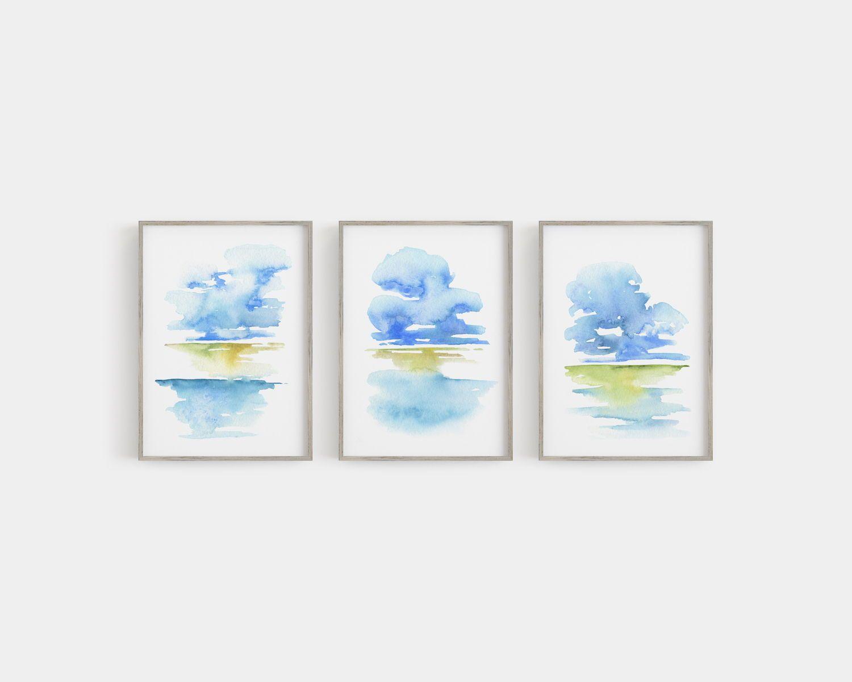 Vista Abstract Watercolor Painting Series By Asara Design