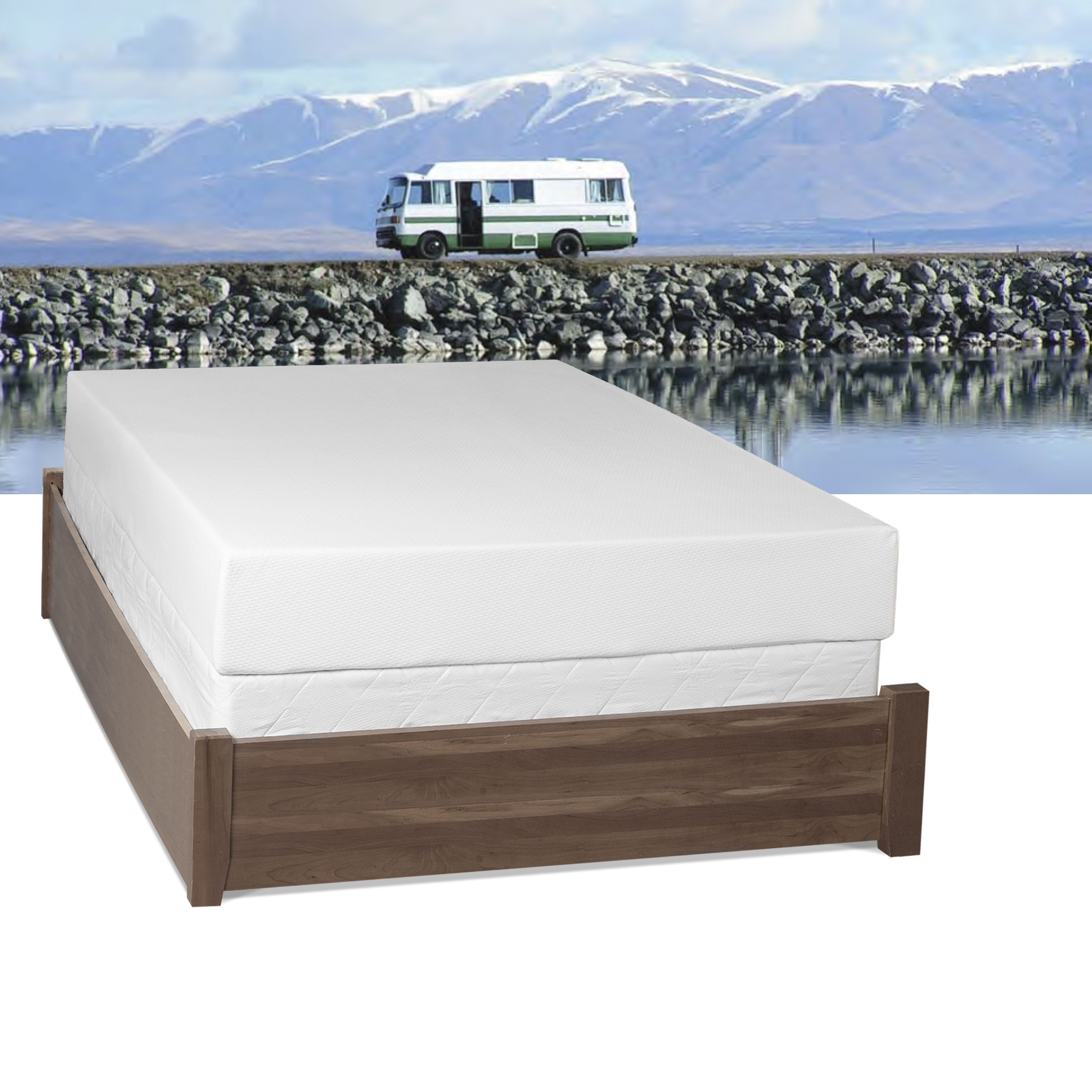 Select Luxury Rv Medium Firm 10 Inch Queen Size Gel Memory Foam Mattress
