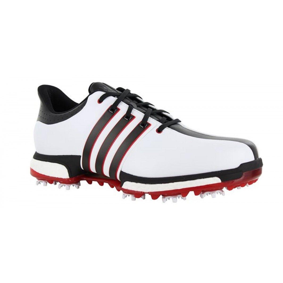 adidas tour360 impulso f33248 f33260 bianco / nero / rosso scarpa da golf maschile