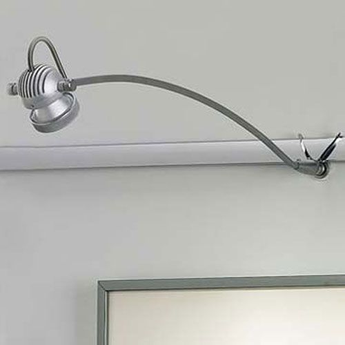 Wall Mounted Track Lighting Fascinating Wallmounted Ledra Matte Chrome Led Display Track Light Bruck Inspiration Design