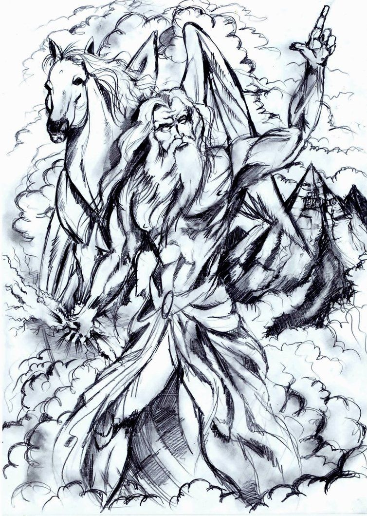 Greek God Zeus With Pegasus Zeus Greek Mythology Pegasus Art