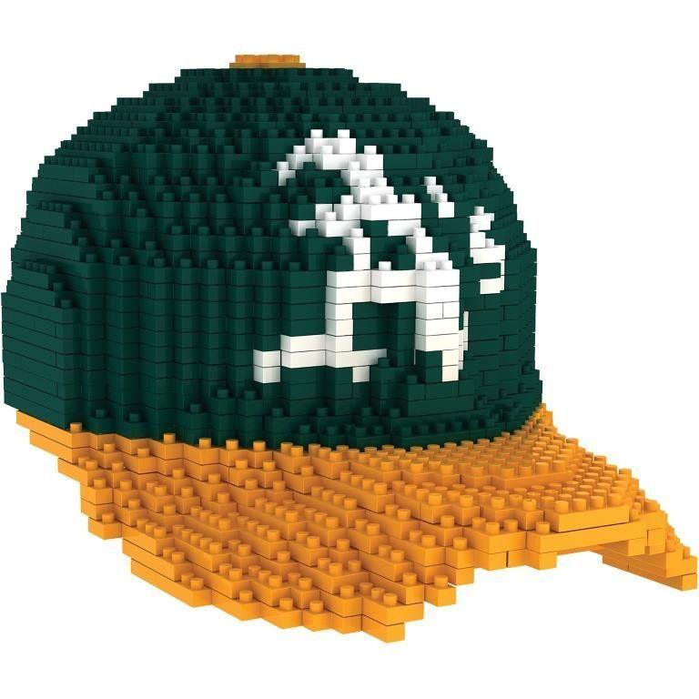 Oakland Athletics MLB 3D BRXLZ Construction Puzzle Set Baseball Cap - *PREORDER Ships In March*