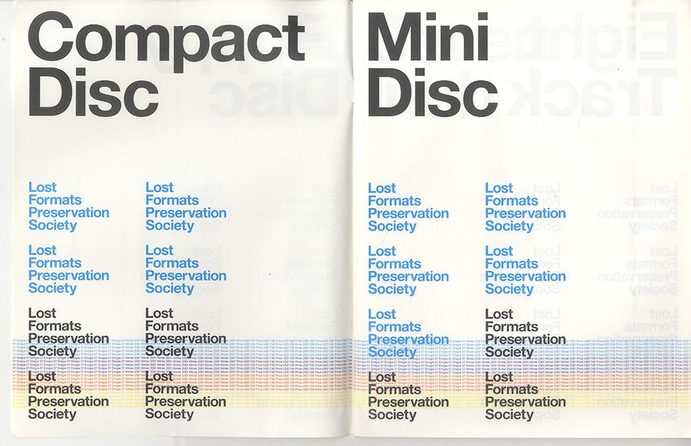 Unknown Emigre Issue. I like the use of colour and different font sizes to create structure and hierachy.