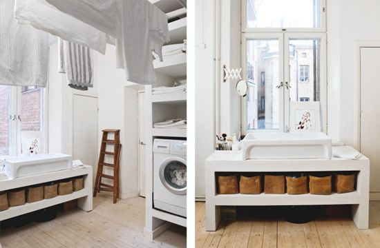 white, black and natural materials, interior designer Tanja Jänicke