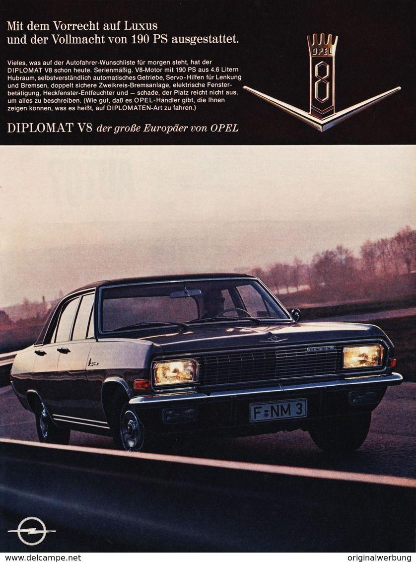Original Werbung Anzeige 1966 Grossformat Opel Diplomat Ca 250 X 350 Mm