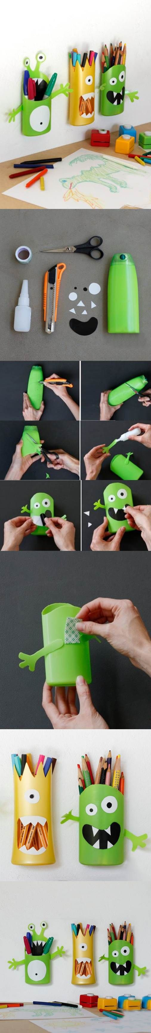 Diy funny pen holder from plastic bottle icreativeideas like diy funny pen holder from plastic bottle icreativeideas like us on facebook facebook do it yourself pinterest reciclaje solutioingenieria Choice Image