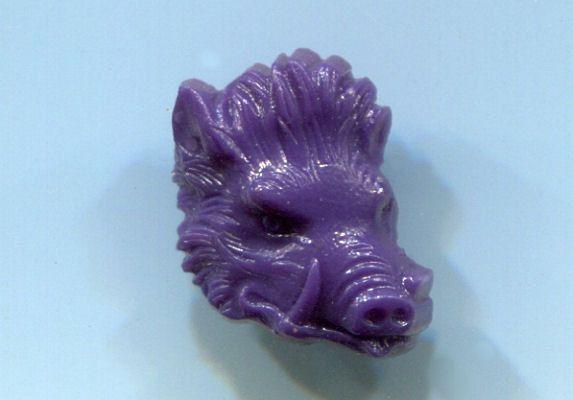 1950's Plastic Boar Head from Good Luck by vintagebuttonsplus