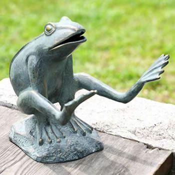 Superior Leaping Garden Frog Statue Frog Garden Décor Available At AllSculptures.com