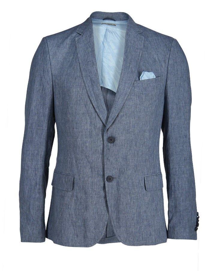 #Drykorn - blaues Leinen Sakko at Stierblut