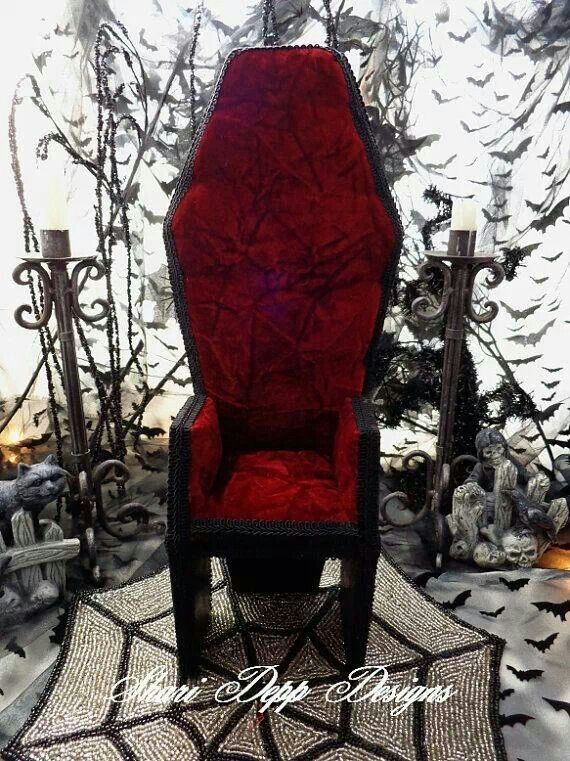 Coffin chair i want this chair gothling coole - Gothic wohnen ...