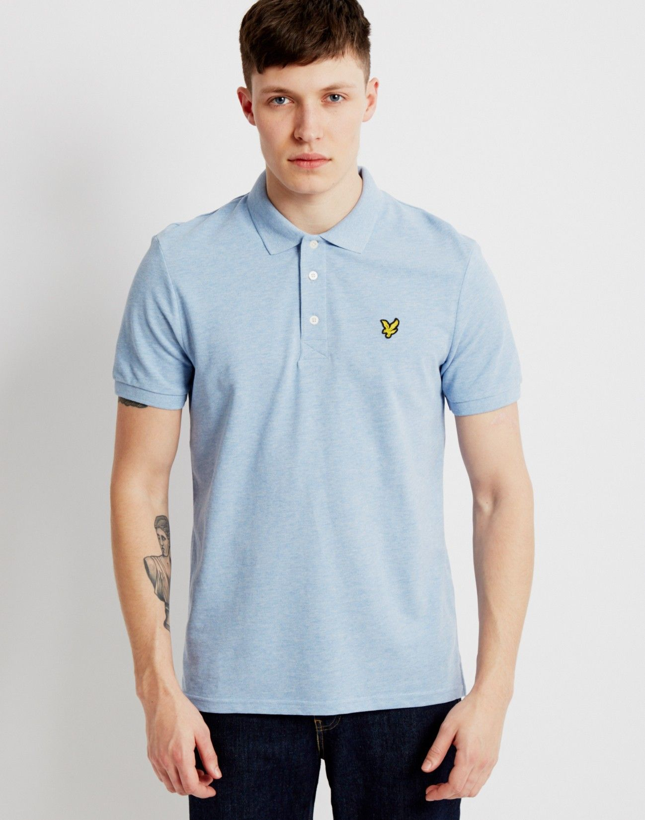 ab2925775 Lyle & Scott Polo Shirt Light Blue | Shop menswear at The Idle Man ...
