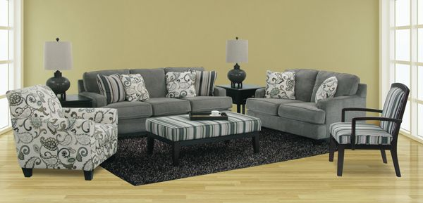 Yvette Upholstery Collection Steel Afw New Living Room