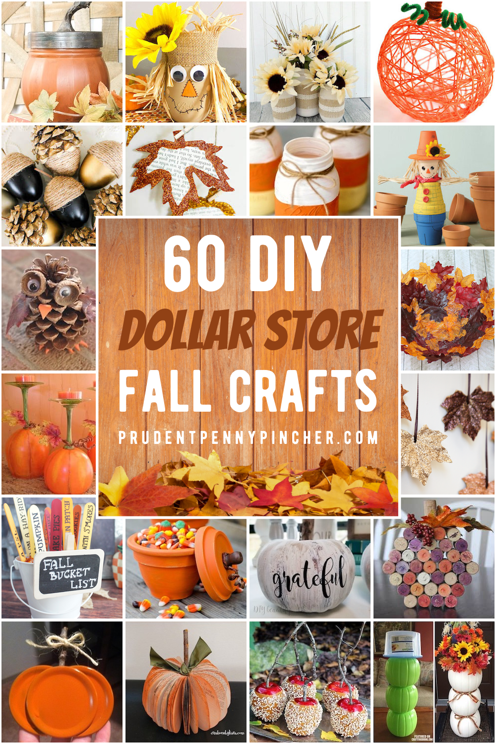 60 Dollar Store Fall Crafts Easy Fall Crafts Fall Crafts For Adults Fall Crafts