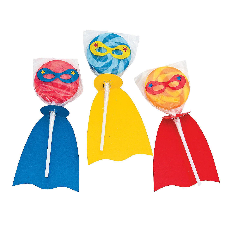 Superhero Swirl Lollipops Oriental Trading In 2020 Superhero Party Supplies Superhero Party Favors Superhero Birthday Party