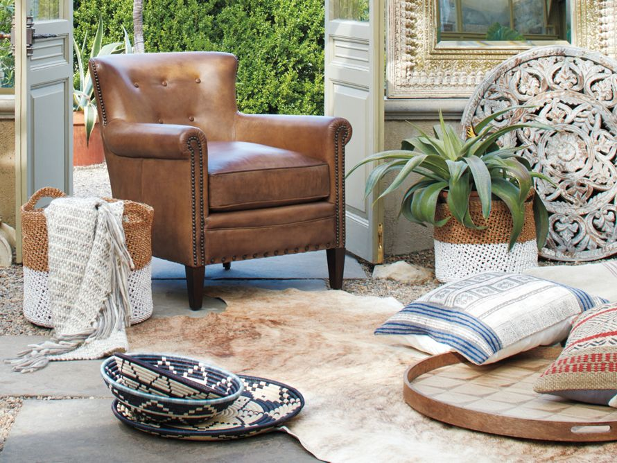 Linden Leather Chair Arhaus Furniture On For 70 Off Now Black Friday 2018