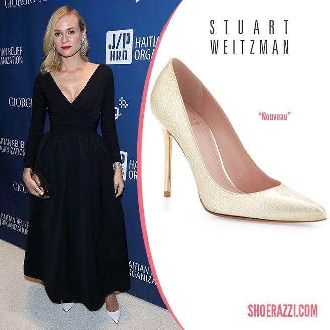 Stuart-Weitzman-Nouveau-pumps-white-leather-Spring-2014-Diane-Kruger
