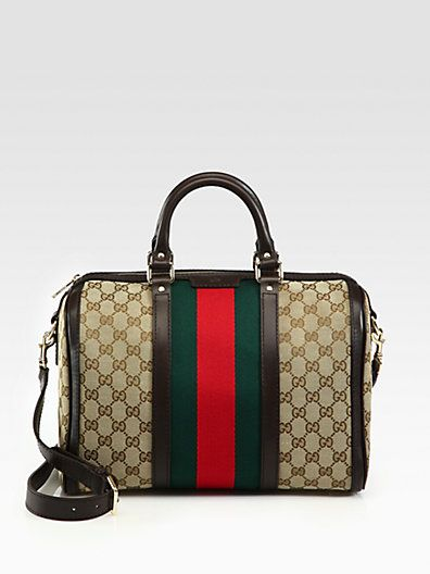 176952f56c6f Gucci - Medium Boston Bag - Saks.com | Wish List | Boston Bag, Bags ...
