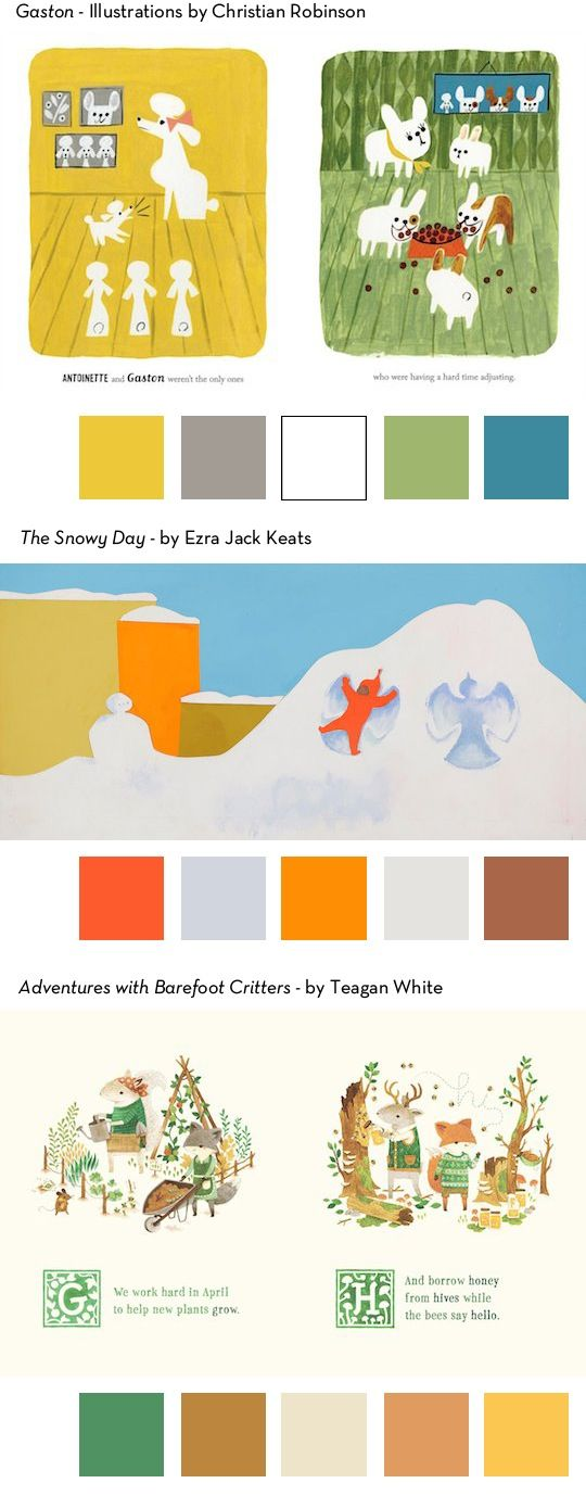 Color Palettes In Some Of Our Favorite Children S Books From Redcapcards Color Palette Color Schemes Colour Palettes Coloring For Kids