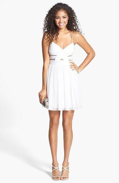 Hailey Logan Cutout Chiffon Dress (Juniors) available at #Nordstrom ...
