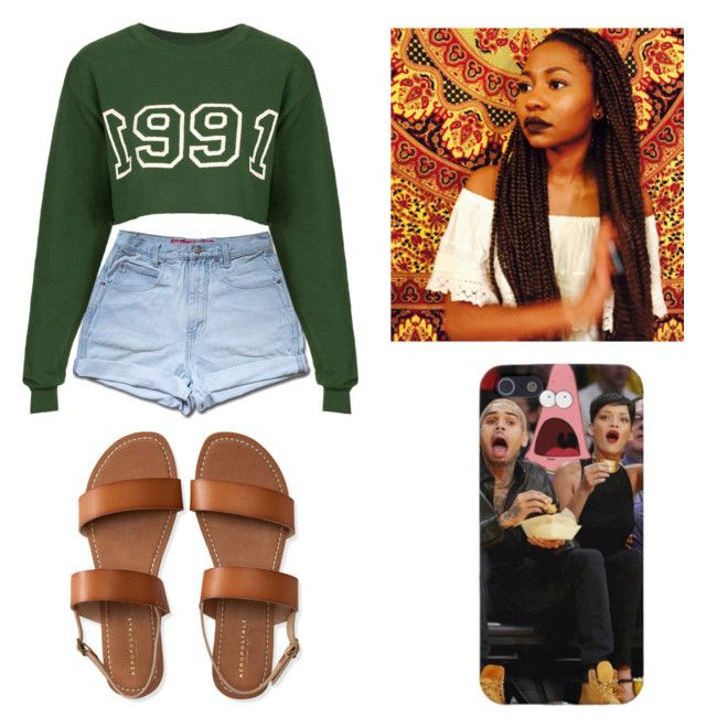 """""""1991 ."""" by qveenkyndall16 ❤ liked on Polyvore featuring Tee and Cake and Aéropostale"""