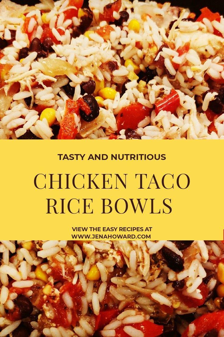 Chicken Taco Rice Bowls