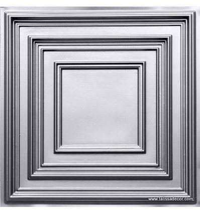 222 Silver Faux Tin Ceiling Tile