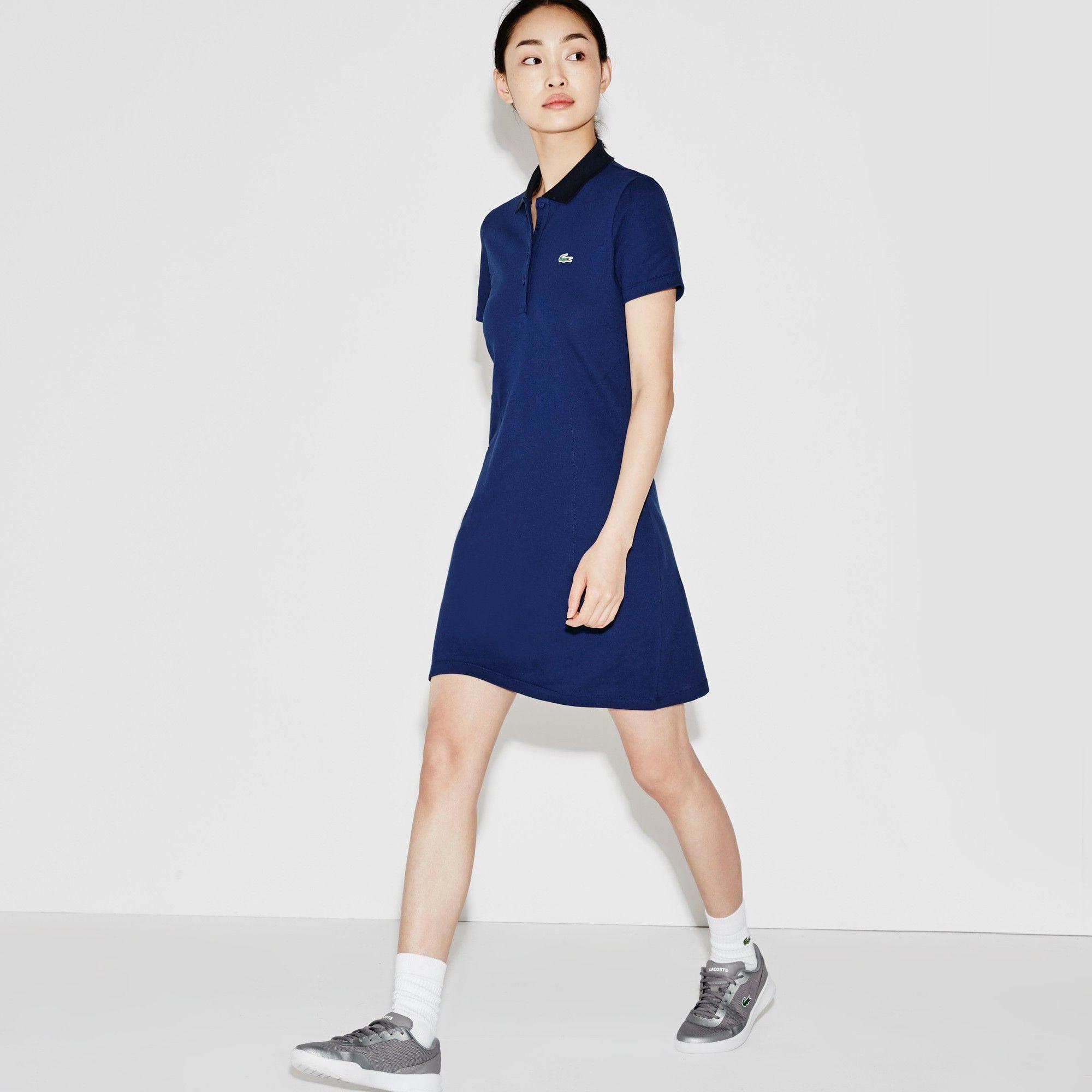 ab236d8daf5d LACOSTE Women s Lacoste SPORT Golf Stretch Mini Piqué Polo Dress -  ocean navy blue.  lacoste  cloth