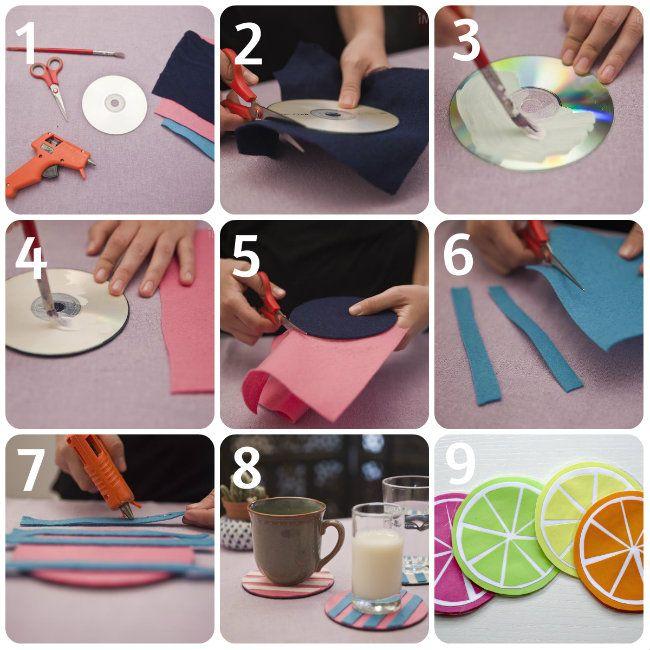 Recicla esos viejos cds rayados que solo ocupan espacio en casa
