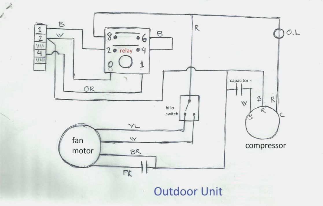 Unique Fan Relay Wiring Diagram Hvac Diagram Diagramsample