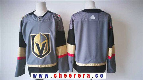 23d02fdfb Men s Vegas Golden Knights Blank Gray 2017-2018 adidas Hockey Stitched NHL  Jersey