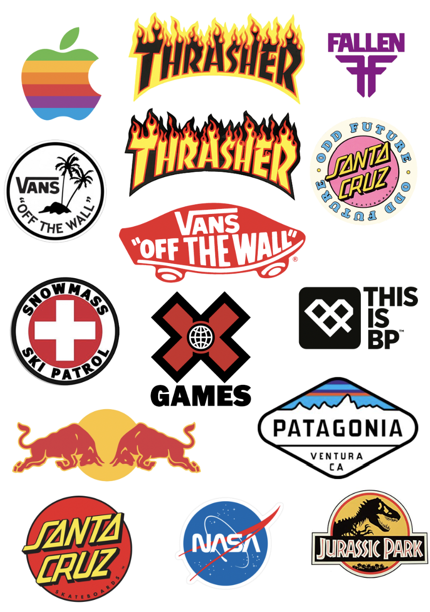 Skate stickers | Skate stickers, Brand stickers, Vans stickers