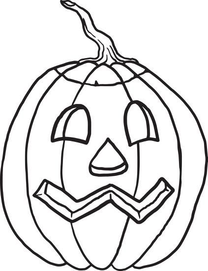 FREE Printable Pumpkin Coloring Page for Kids | Pumpkin ...