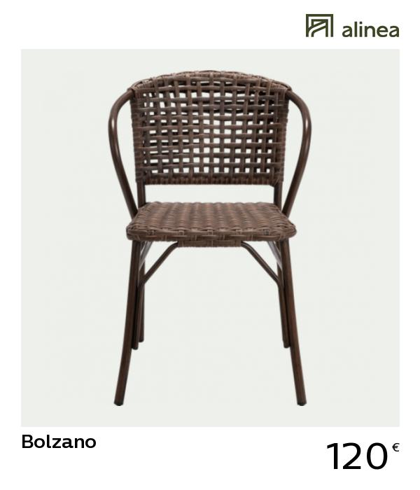 Chaise de jardin en aluminium brun - Alinéa | Prendre l\'air ...