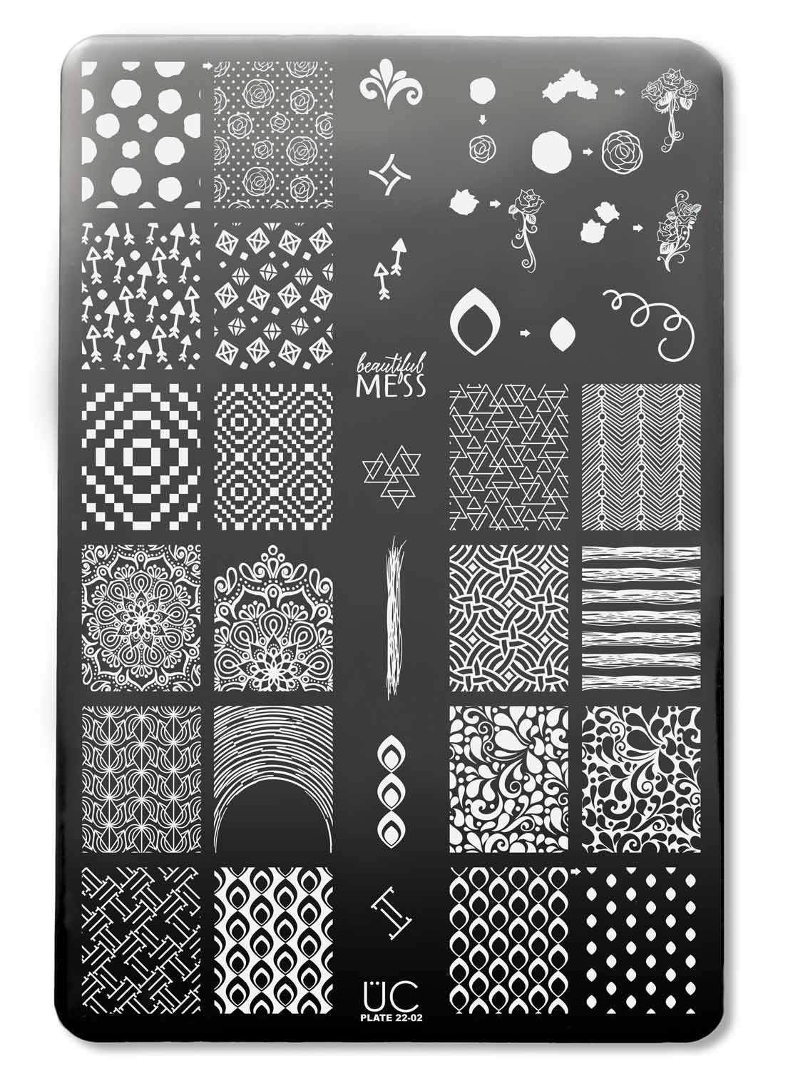 0e9d1c90918 This 3 stamping plate set has loads of beautiful designs and patterns like  jewels and gems, swirling waves, mandalas, polka dots and roses, ...