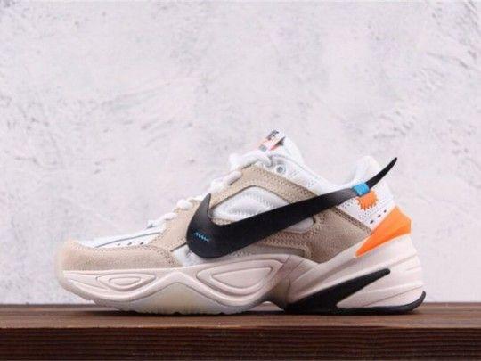 differently ab4c1 45e0a Custom Off-White x Nike M2K Tekno Phantom White Crimson Olive Grey