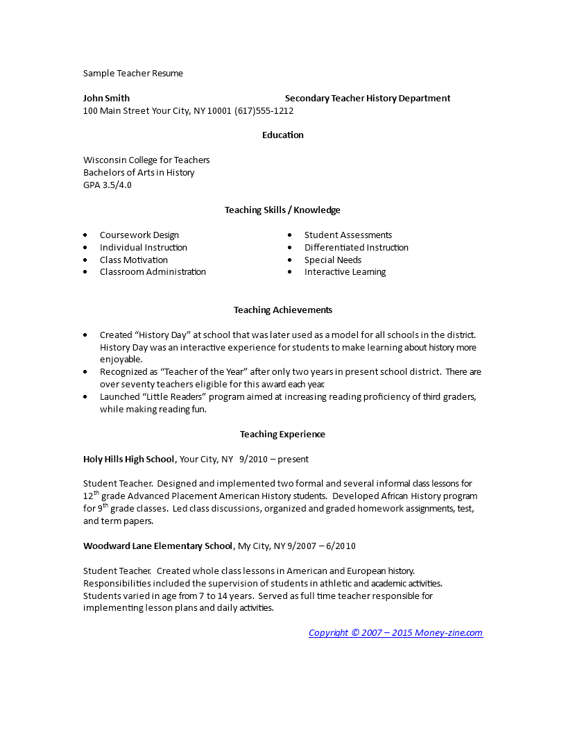 Sample Elementary Teacher Resume How to draft an