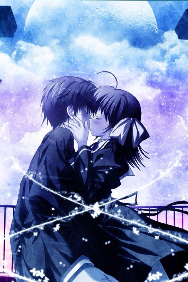I see a heart..? Romantic anime, Anime wallpaper